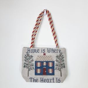 Home Is Where The Heart Is Tapestry Bag